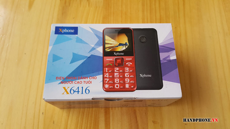 Mở hộp điện thoại dành cho người già Xphone X6416 của Viettel