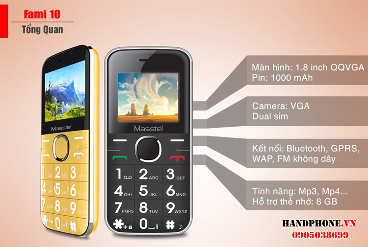 Viettel X6216, Vinaphone Flybee G11, Kechaoda K8, Masstel Fami2 - 1