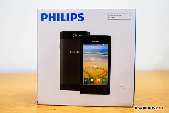 Mở hộp điện thoại pin bền Philips S309 2 sim giá rẻ