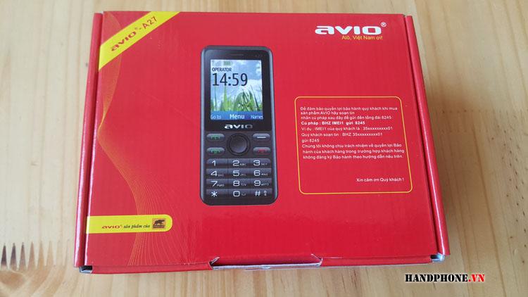 Mở hộp điện thoại 2 sim Avio A27 dùng sim STK Gphone