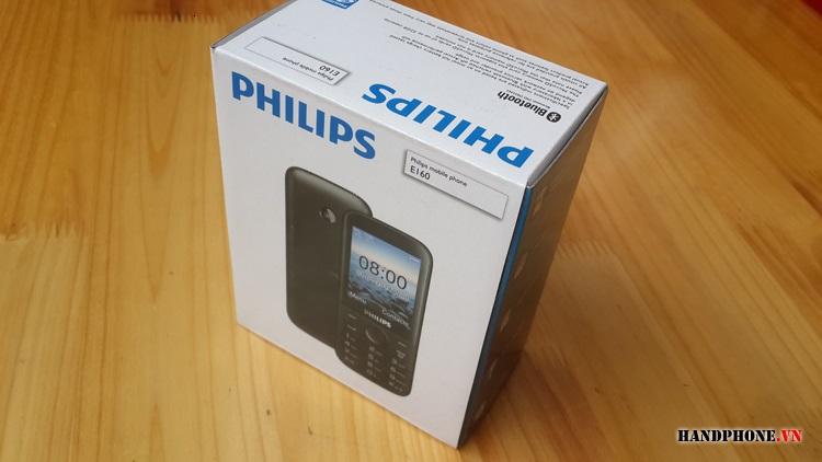 Mở hộp điện thoại Philips E160 giá rẻ pin 35 ngày