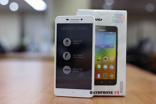 Mở hộp smartphone Lenovo A5000 pin bền giá dưới 3 triệu