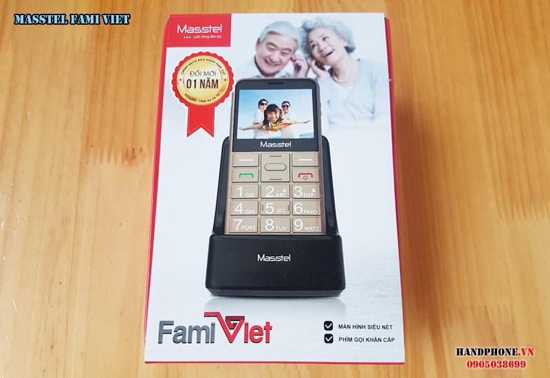 Mở hộp điện thoại dành cho người già Masstel Fami Viet