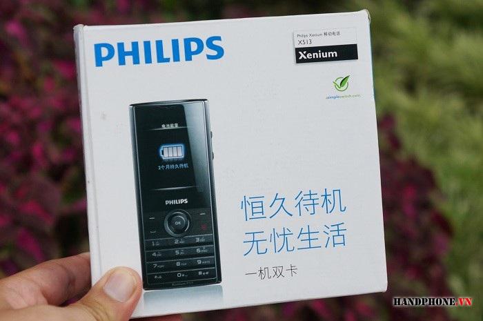 Philips Xenium X513 trở lại và khuấy động thị trường pin bền