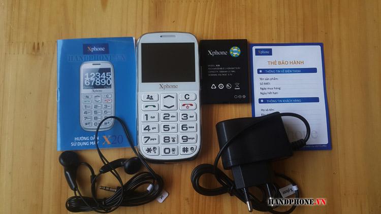 Mở hộp điện thoại dành cho người già Xphone X20 của Viettel