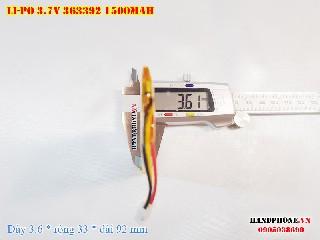 1 Lipo 1500mah 363392 37v battery 3pin