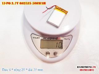 4 Lipo 500mAh 602535 37v battery