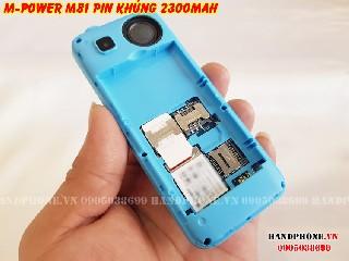 Điện thoại M power m81 pin khủng 2300mAh ghi âm cuộc gọi tự động
