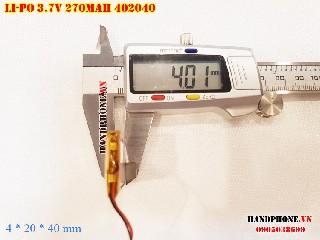 bán pin Lithium Polymer  Li Po  270mah 402040 tại hà nội
