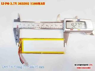 3 Lipo 1500mah 363392 37v battery 3pin