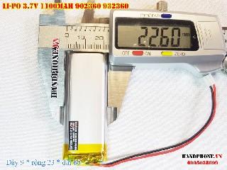 bán pin Lithium Polymer  Li Po  3 7V 1100mah 902360 932360 tại hà nội Battery