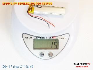 4 Lipo 650mAh 801560 37v battery