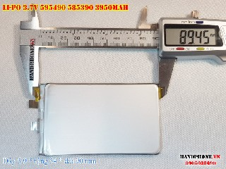3 Lipo 3950mAh 595490 37V Battery