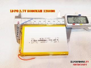 bán pin Lithium Polymer  Li Po  8000mah 126090 tại hà nội