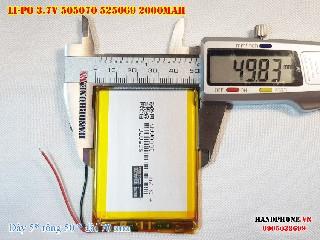 bán pin Lithium Polymer  Li Po  3 7V 2000mah 505070 525069 tại hà nội Battery