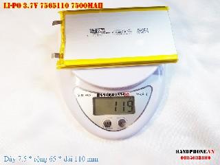 bán pin Lithium Polymer  Li Po  3 7V 7500mah 7565110 tại hà nội Battery