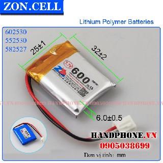 Pin LI Po Zoncell 600mah 602530mm hpvn