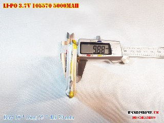 1 Lipo 5000mAh 105570 37v battery