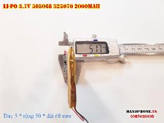 bán pin Lithium Polymer  Li Po  3 7V 2000mah 505068 525070 tại hà nội