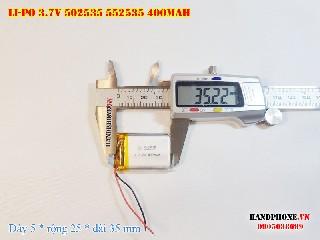 bán pin Lithium Polymer  Li Po  3 7V 400mah 502535 552535 tại hà nội Battery