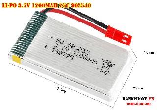 Pin Li Po 1200mah 3 7V 25C 902052