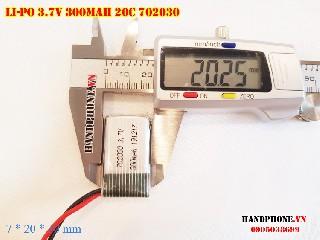 bán pin Lithium Polymer  Li Po  300mah dòng xả cao 20C 702030 tại hà nội