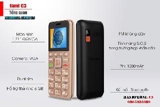 Điện thoại cho người già masstel fami C3