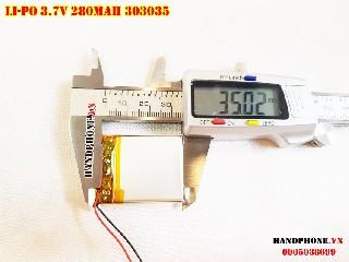 Pin Li Po 3 7V 303035 280mAh cho đồng hồ thông minh  định vị GPS  máy ghi âm  camera hành trình tại Hà Nội Lithium Polymer