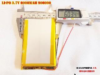 Pin Li Po 3 7V 906090 6000mAh bán tại Hà Nội Lithium Polymer