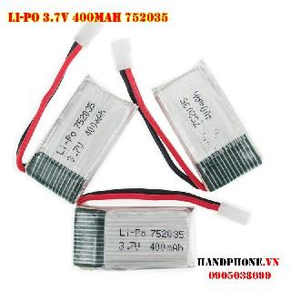 pin 3 7V dòng xả cao 25C 400mah 752035