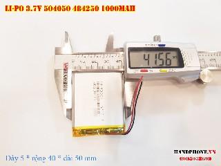 bán pin Lithium Polymer  Li Po  3 7V 1000mah 504050 484250 tại hà nội