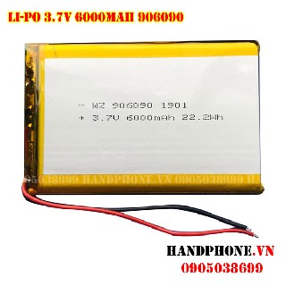 Pin Lipo 906090 3 7v 6000mAh