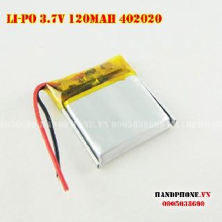 Pin Lipo 402020 3 7v 120mah