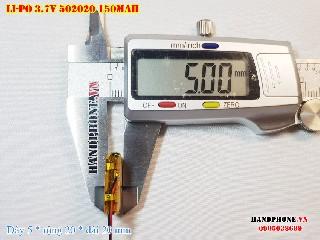 bán pin Lithium Polymer  Li Po  3 7V 150mah 502020 tại hà nội Battery