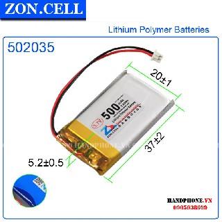 Pin Li po Zoncell 500mah 502035 dòng xả thấp