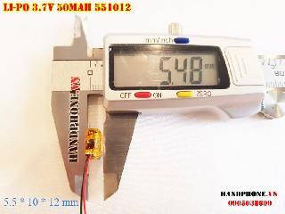bán pin Lithium Polymer  Li Po  50mah 551012 551112 tại hà nội
