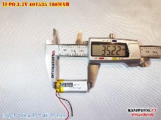 bán pin Lithium Polymer  Li Po  3 7V 180mah 401535 tại hà nội Battery