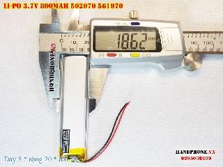 bán pin Lithium Polymer  Li Po  3 7V 800mah 502070 461970 tại hà nội Battery