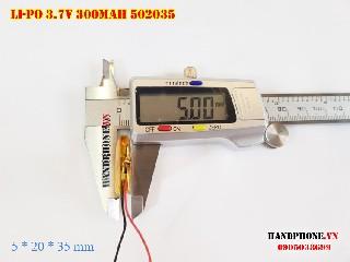bán pin Lithium Polymer  Li Po  300mah 502035 3 7V tại hà nội