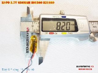 1 Lipo 650mAh 801560 37v battery