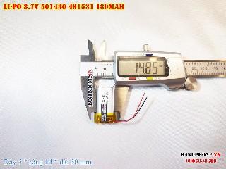bán pin Lithium Polymer  Li Po  3 7V 180mah 501430 501530 tại hà nội Battery