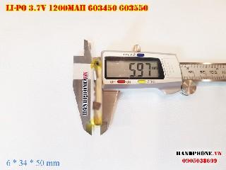 bán pin Lithium Polymer  Li Po  3 7V 1200mah 603450 603550 tại hà nội