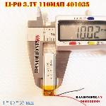 bán pin Lithium Polymer  Li Po  110mah 401035 tại hà nội