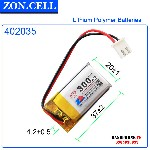Pin Li Po Zoncell 300mah 402035mm1