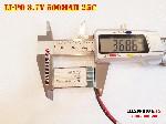 bán pin Lithium Polymer  Li Po  500mah dòng xả cao 25C 702035 752035 tại hà nội