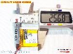 3 Lipo 420mAh 502526 37v Batterry