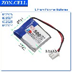 Pin Li Po Zoncell 500mah 500 602525mm