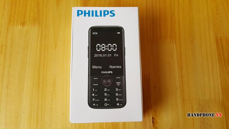 Mở hộp điện thoại Philips E330 pin siêu khủng 4050 mAh