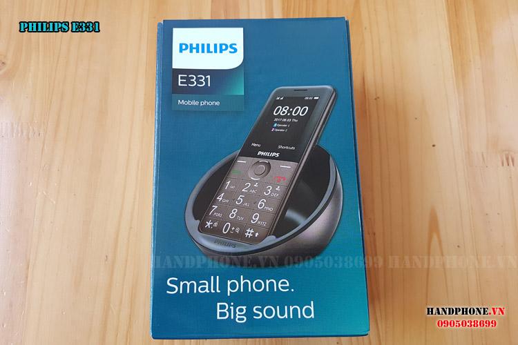 Mở hộp điện thoại dành cho người già Philips E331