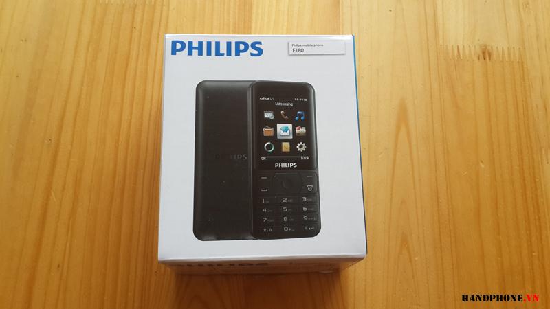 Mở hộp điện thoại Philips E180 chính hãng pin 4 tháng